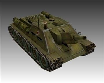 ww2 soviet su 122 3d model 3ds max x lwo ma mb obj 103914