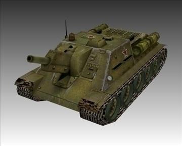 ww2 soviet su 122 3d model 3ds max x lwo ma mb obj 103915
