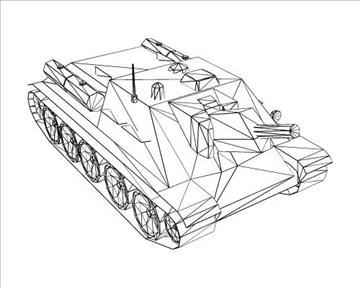 ww2 soviet su 122 3d model 3ds max x lwo ma mb obj 103916