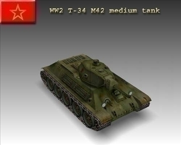 ww2 sovet t 34 m42 tank 3d model 3ds max x lwo ma mb obj 103923