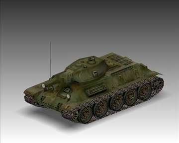ww2 soviet t 34 m42 tank 3d model 3ds max x lwo ma mb obj 103927