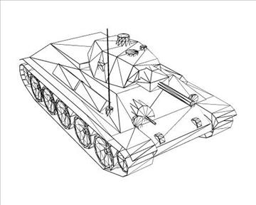 ww2 soviet t 34 m42 tank 3d model 3ds max x lwo ma mb obj 103928
