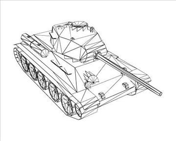 ww2 soviet t 3485 танк 3d загвар 3ds max x lwo ma mb obj 103922