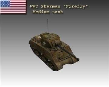 ww2 usa m4 sherman firefly 3d model 3ds max x lwo ma mb obj 103851