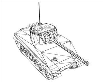 ww2 usa m4 sherman firefly 3d загвар 3ds max x lwo ma mb obj 103856