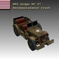 WW2 American Dodge WC 57 ( 44.17KB jpg by WW2Model )
