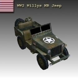 WW2 American Willys MB Jeep ( 43.16KB jpg by WW2Model )