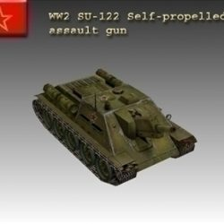 WW2 Soviet SU 122 ( 42.39KB jpg by WW2Model )