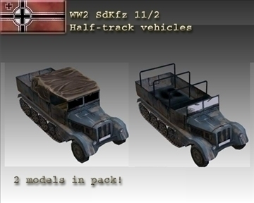 ww2german sdkfz 112 half tracks 3d model 3ds max x lwo ma mb obj 103976