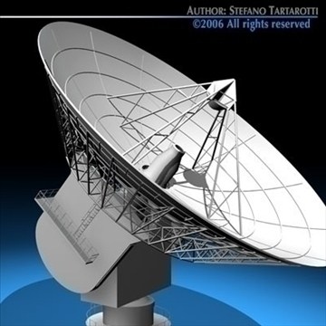 satelit antena 3d model 3ds dxf c4d obj 82123