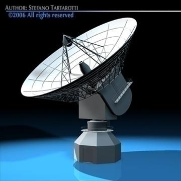 satelit antena 3d model 3ds dxf c4d obj 82124