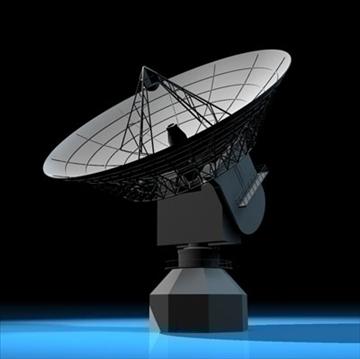 satelit antena 3d model 3ds dxf c4d obj 82129