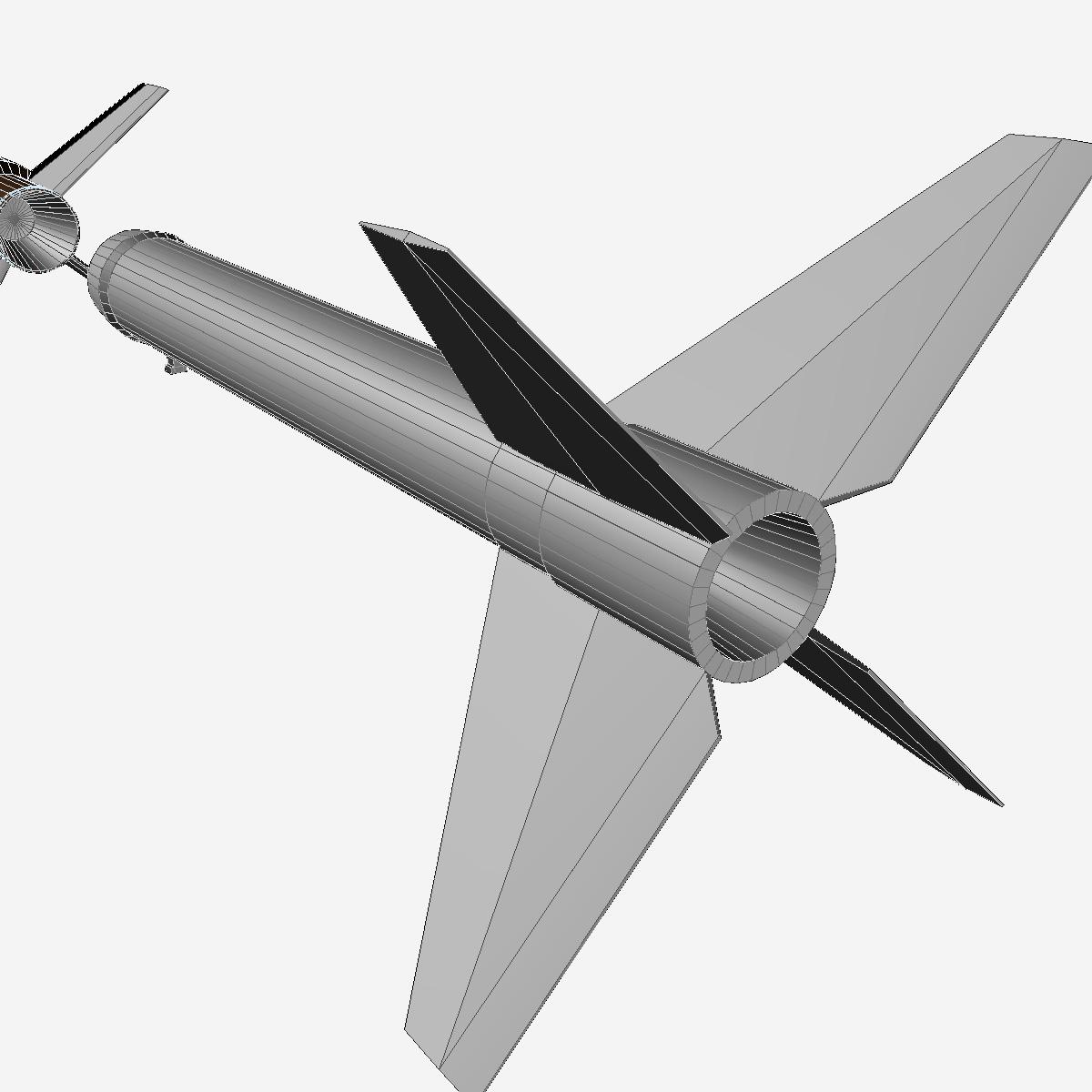 Astrobee 200 Rocket 3d model 3ds dxf fbx blend cob dae X   obj 165957