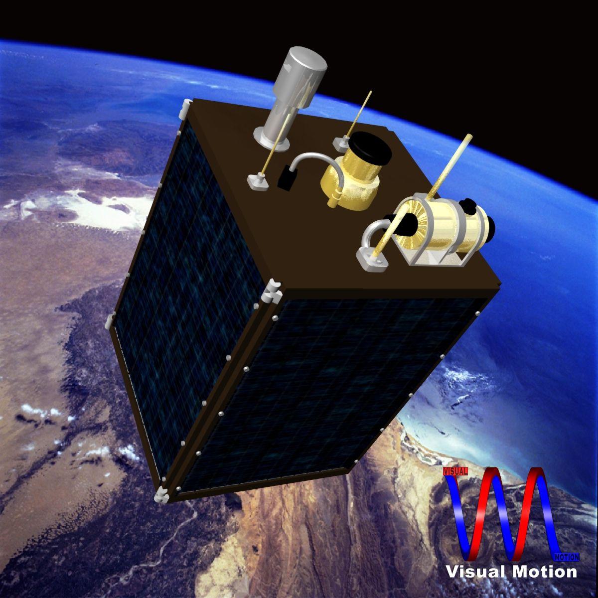 dprk kwangmyongsong-3 сателит 3d модел 3ds dxf cob x obj 134453