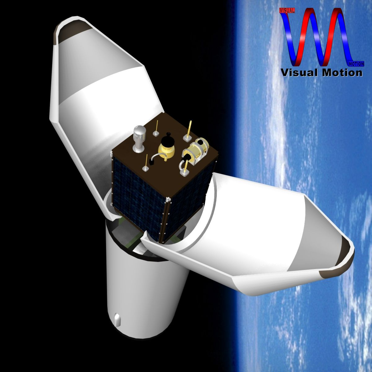 dprk kwangmyongsong-3 satellite 3d model 3ds dxf cob x obj 134454