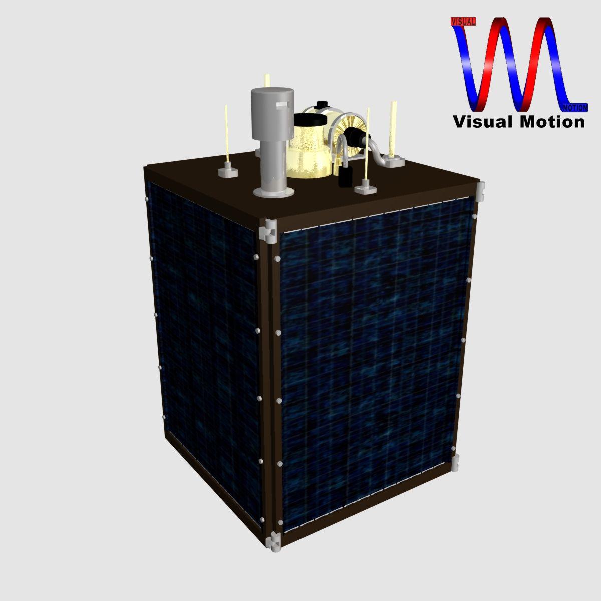 dprk kwangmyongsong-3 satellite 3d model 3ds dxf cob x obj 134457