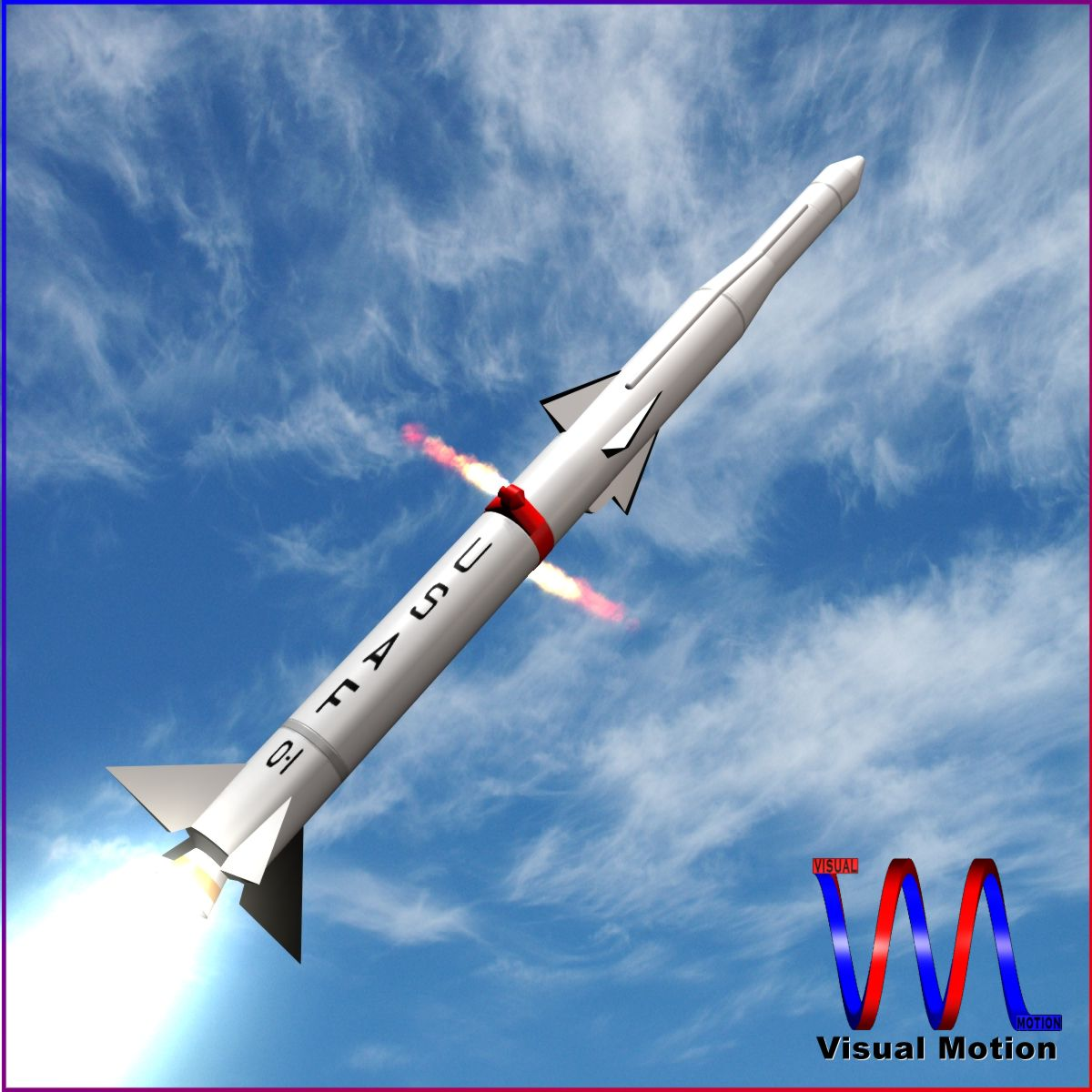 usaf blue scout jr rocket 3d model 3ds dxf cob x obj 153019