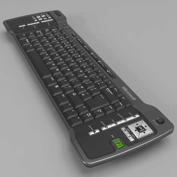 media center keyboard 3d model 3ds fbx skp obj 118879