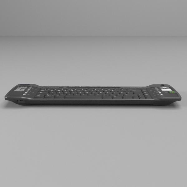 media center keyboard 3d model 3ds fbx skp obj 118883