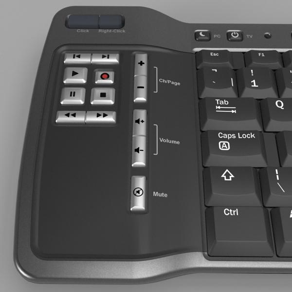 media center keyboard 3d model 3ds fbx skp obj 118884