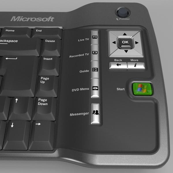 media center keyboard 3d model 3ds fbx skp obj 118885