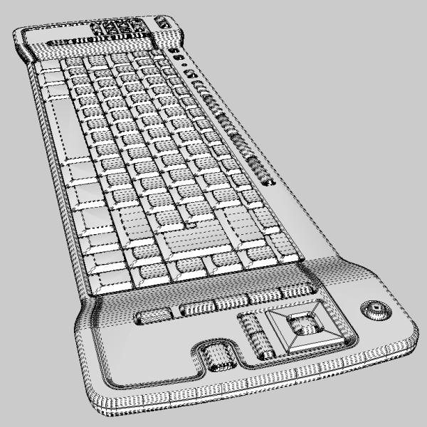 media center keyboard 3d model 3ds fbx skp obj 118888