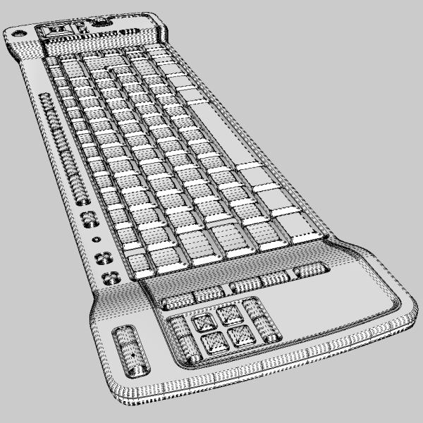 media center keyboard 3d model 3ds fbx skp obj 118889