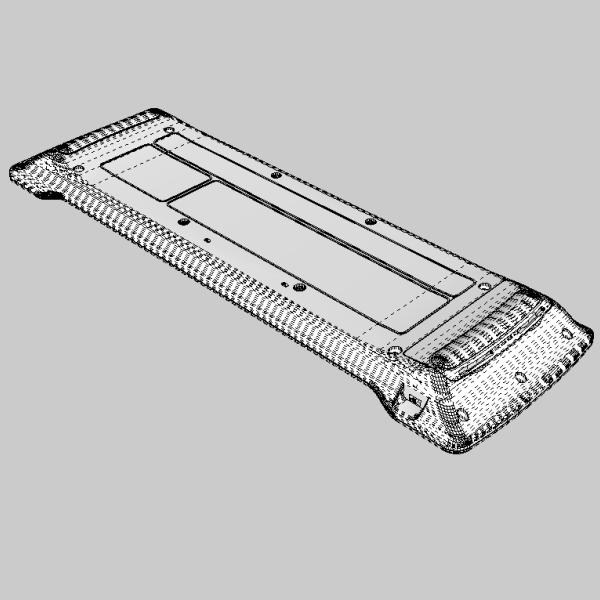 media center keyboard 3d model 3ds fbx skp obj 118890