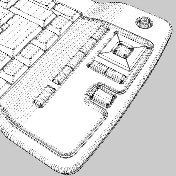 media center keyboard 3d model 3ds fbx skp obj 118891