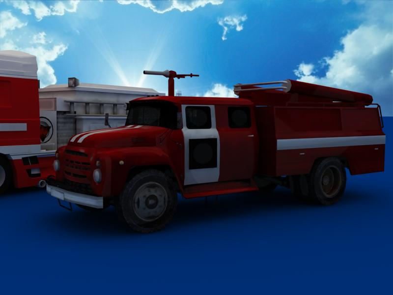 fire truck collection 3d model 3ds max dxf dwg fbx obj 120189