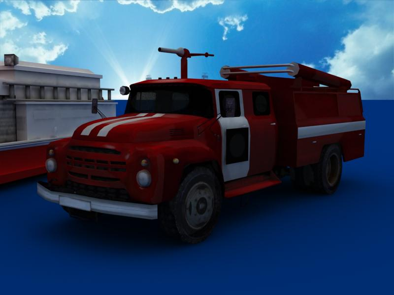 fire truck collection 3d model 3ds max dxf dwg fbx obj 120190
