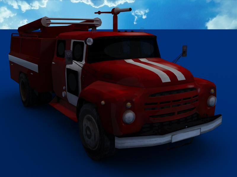 fire truck collection 3d model 3ds max dxf dwg fbx obj 120191