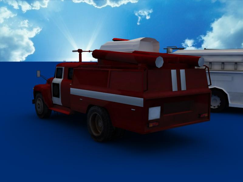 fire truck collection 3d model 3ds max dxf dwg fbx obj 120193