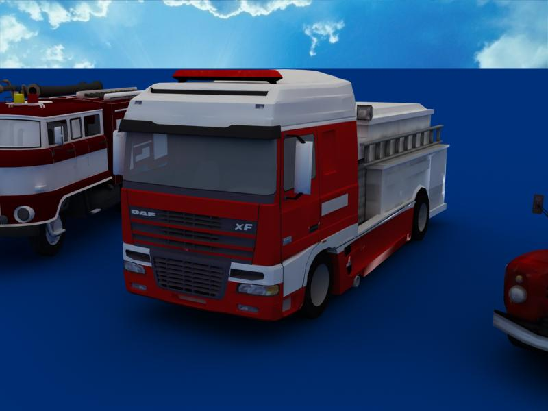 fire truck collection 3d model 3ds max dxf dwg fbx obj 120194