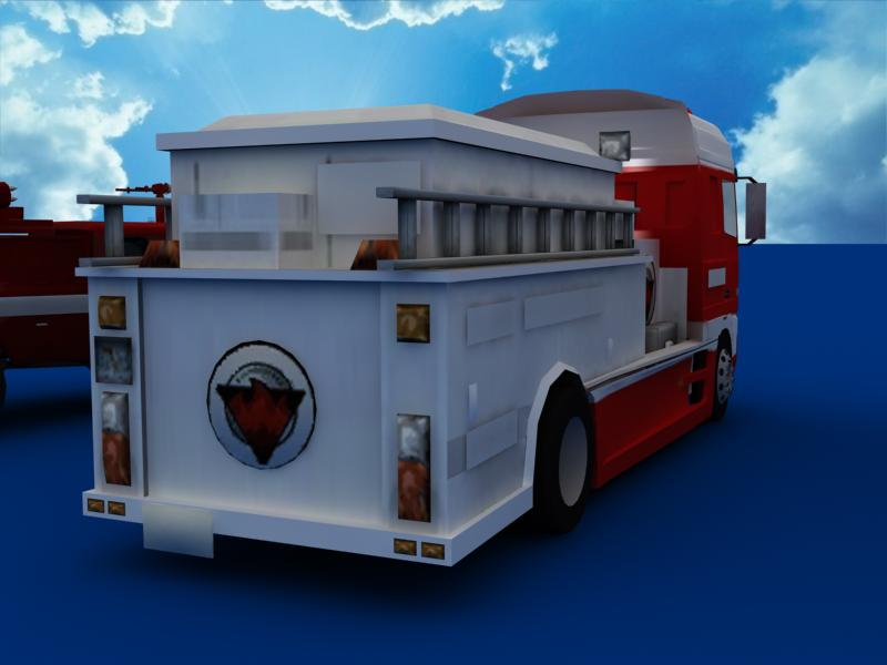 fire truck collection 3d model 3ds max dxf dwg fbx obj 120197