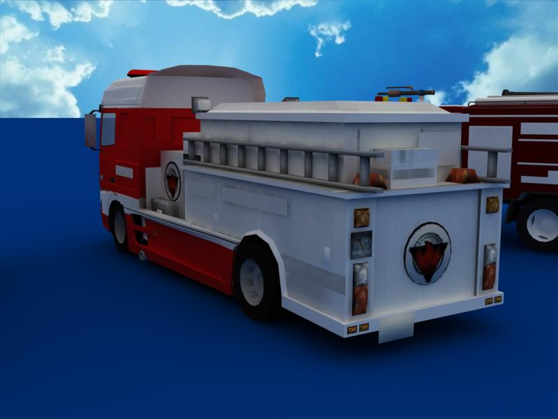 fire truck collection 3d model 3ds max dxf dwg fbx obj 120198