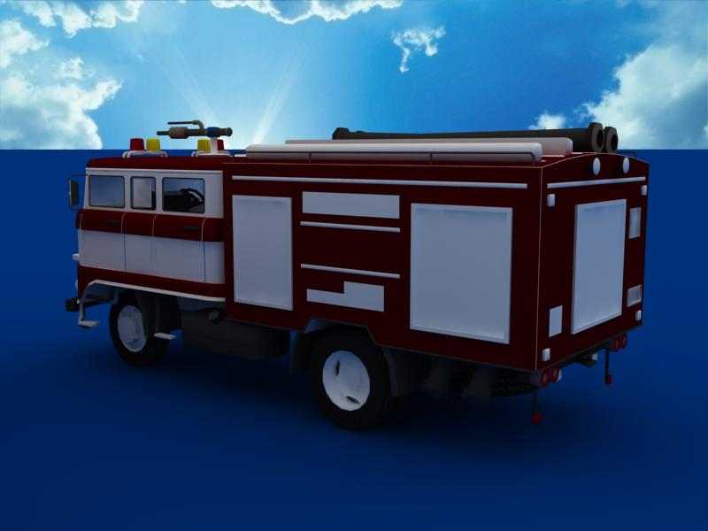 fire truck collection 3d model 3ds max dxf dwg fbx obj 120199