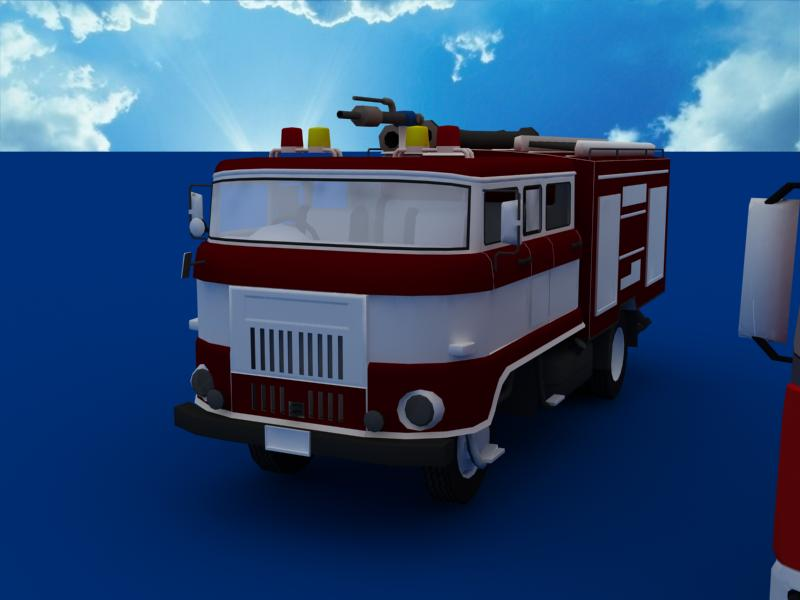 fire truck collection 3d model 3ds max dxf dwg fbx obj 120200