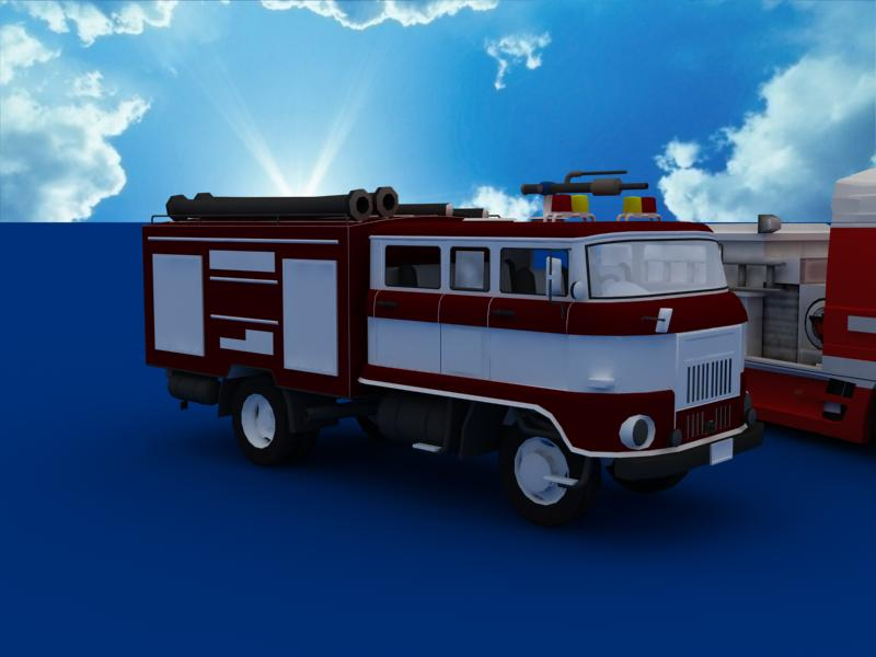 fire truck collection 3d model 3ds max dxf dwg fbx obj 120201