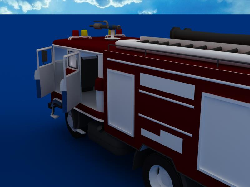fire truck collection 3d model 3ds max dxf dwg fbx obj 120202