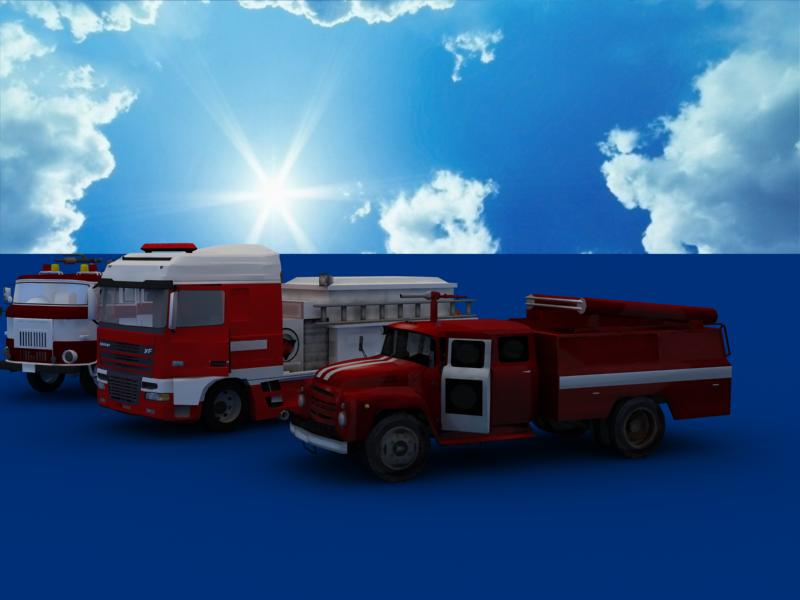 fire truck collection 3d model 3ds max dxf dwg fbx obj 120204