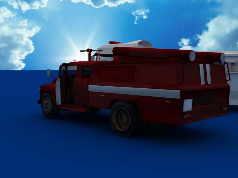 fire truck collection 3d model 3ds max dxf dwg fbx obj 120205