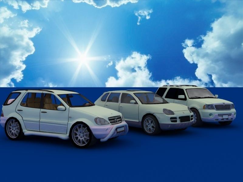 suv car collection 3d model 3ds max dxf dwg fbx obj 120323