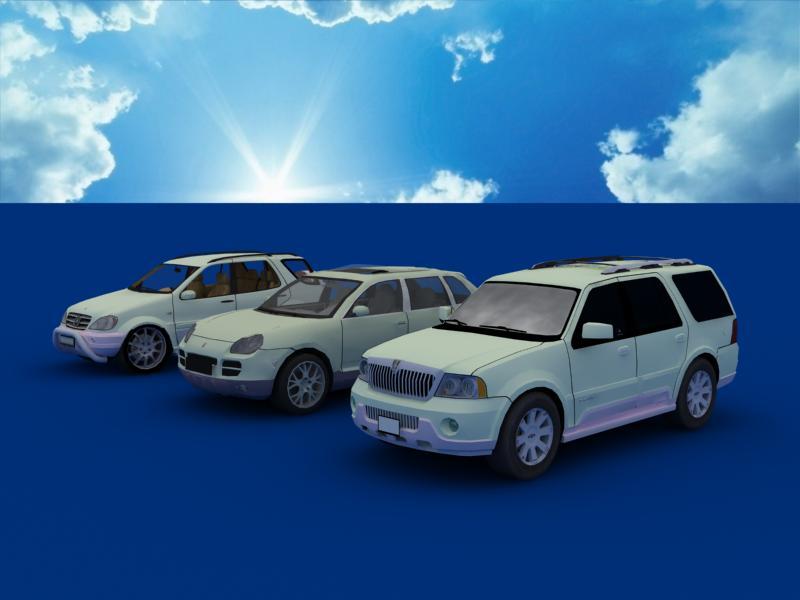 suv car collection 3d model 3ds max dxf dwg fbx obj 120341