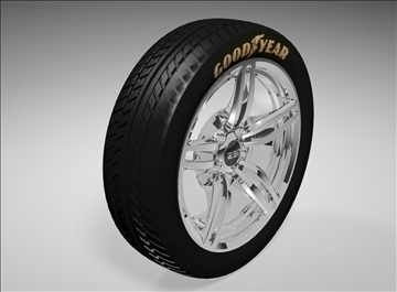 207 zen car rim 3d model 3dm 106777