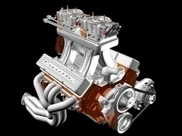 2x4 chevrolet engine 3d modelo 3ds dxf 98987