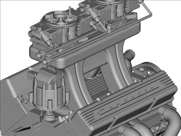 2x4 chevrolet engine 3d model 3ds dxf 98988