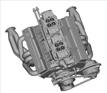 2x4 chevrolet engine 3d model 3ds dxf 98989