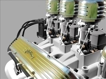3×2 stromberg chevrolet v8 engine 3d model 3ds 88032