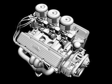 3×2 stromberg chevrolet v8 engine 3d model 3ds 88034